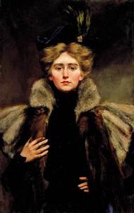 Natalie Clifford Barney, målad 1896 av hennes mor Alice Pike Barney.