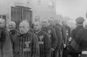 Koncentrationslägret Sachsenhausen (foto från den 19 december 1938). Kohout anlände till lägret i januari 1940.