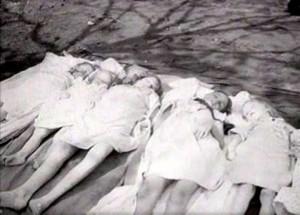 Magda och Joseph Goebbels barn efter att de blivit förgiftade med cyankalium