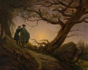 Målning av Caspar David Freidrich
