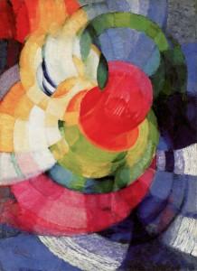 Newtoncirklar, målning av Frantisek Kupka 1911