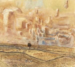 Träd på Alvaret (före 1927). Foto: Bukowskis Auktioner.