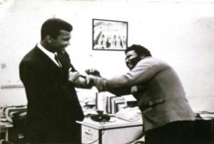Muhammed Ali och Sherman Adams.