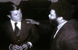 Den amerikanske senatorn Ted Kennedy och Sherman Adams.