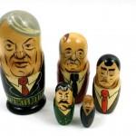 Sovjetiska och ryska ledare som babusjkadockor