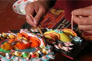 Tillverkning av smörskulpturer i Tibet