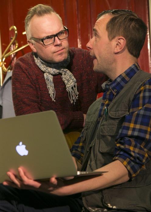 Mats Bladh och Ulrik Spjut (foto: Lerbäcks teater).