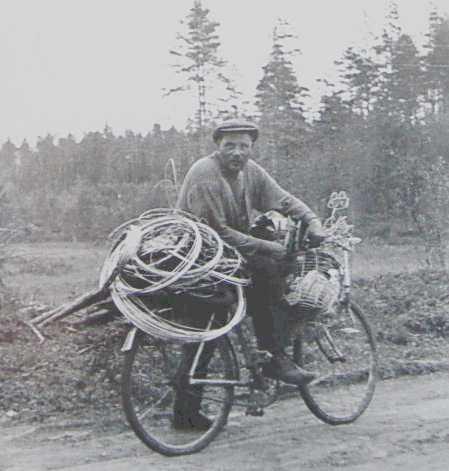 Nils Rundgren med ståltråd till trådtjack