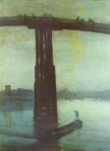 James Abbot McNeill Whistler: Nocturne in Blue and Gold Old. Battersea Bridge (1872-75).