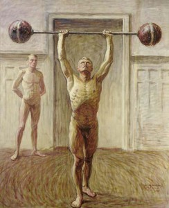 Jansson,_Eugène_Fredrik_(1862-1915)_-_Pushing_Weights_with_Two_Arms_-2