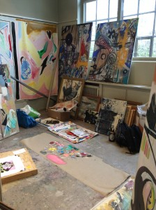 Ung konst i Munchs ateljé.