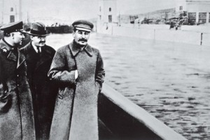Jezjov med Stalin efter att han fallit i onåd.