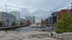 Hamnområdet i Hamburg, i fonden nya konserthuset