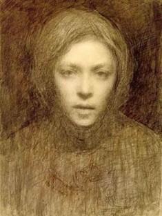 Självporträtt av Ellen Thesleff