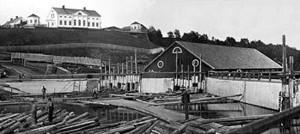 Baggböle på 1800-talet